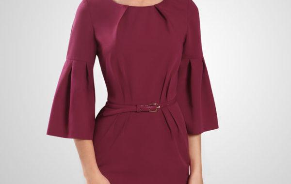 Платье цвета спелой вишни
