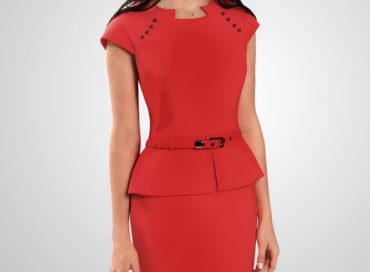 Модный костюм  насыщенного красного цвета